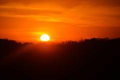 Stigning Sun Arkivfoton