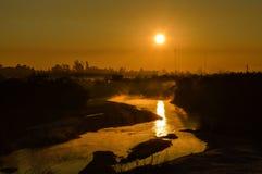 Stigning Sun Royaltyfria Bilder