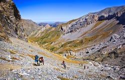 Stigning till bergpasserandet fotografering för bildbyråer