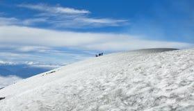Stigning till den Villarrica vulkan royaltyfria foton