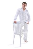 Stiil man on white background Stock Images