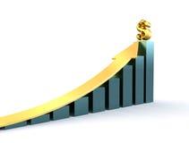Stijgend inkomen Stock Foto