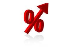 Stijgend Percentage Royalty-vrije Stock Foto's