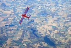 Stijgend vliegtuig stock fotografie