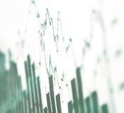 Stijgende grafiek in schaduwen van de grijze, winstgroei Stock Foto