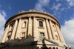Stijgende hoekmening van de Radcliffe-Camera, Universiteit van Oxford Royalty-vrije Stock Foto's