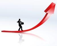 Stijgende lijn en carrière Stock Afbeelding