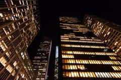 Stijgende mening van uit het stadscentrum Manhattan Stock Foto's