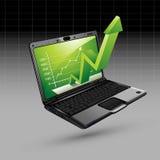 Stijgende Pijl van Laptop Stock Afbeelding