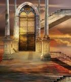 Stijgende poort Royalty-vrije Stock Afbeeldingen