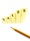 Stijgende verkoop! Royalty-vrije Stock Afbeeldingen