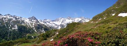 Stijging aan \ Seebersee \ (Zuid-Tirol) Stock Afbeeldingen