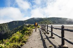 Stijging aan vulkaan royalty-vrije stock fotografie
