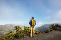 Stijging aan vulkaan stock fotografie