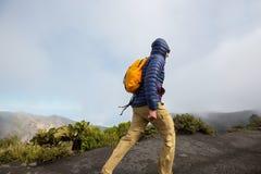 Stijging aan vulkaan stock foto