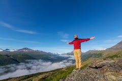 Stijging in Alaska royalty-vrije stock fotografie