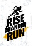 Stijging en Looppas Van het de Motivatiecitaat van het marathonsportevenement de Afficheconcept De actieve Illustratie van de Lev royalty-vrije illustratie