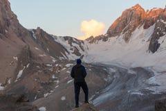 Stijging in Fann-bergen Stock Foto's