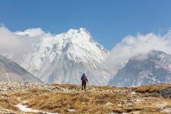 Stijging in Himalayagebergte Royalty-vrije Stock Afbeeldingen
