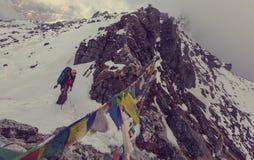 Stijging in Himalayagebergte Stock Fotografie