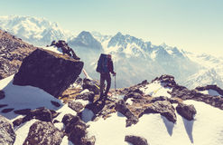 Stijging in Himalayagebergte Stock Afbeelding