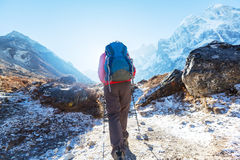 Stijging in Himalayagebergte Royalty-vrije Stock Afbeelding