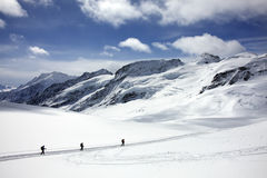 Stijging op de Gletsjer Royalty-vrije Stock Afbeeldingen