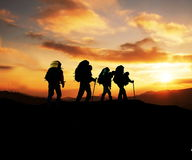 Stijging op zonsondergang royalty-vrije stock foto