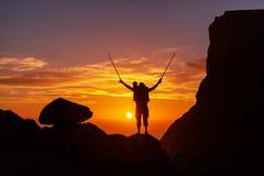 Stijging op zonsondergang Stock Foto