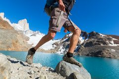 Stijging in Patagonië stock afbeelding