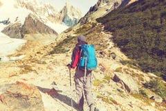 Stijging in Patagonië Royalty-vrije Stock Foto's