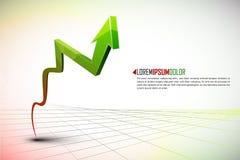 Stijging van winsten of inkomens Stock Foto's