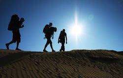 Stijging in woestijn Stock Foto's