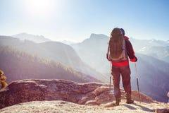 Stijging in Yosemite stock foto's