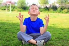 Stijl 2 van de yoga royalty-vrije stock afbeeldingen