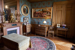 In stijl gehouden ruimten in het kasteel Montresor royalty-vrije stock afbeelding