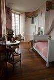 In stijl gehouden ruimten in het kasteel Valencay. stock afbeeldingen
