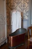 In stijl gehouden ruimten in het kasteel Valencay. stock afbeelding