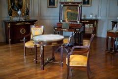 In stijl gehouden ruimten in het kasteel Valencay. royalty-vrije stock afbeelding