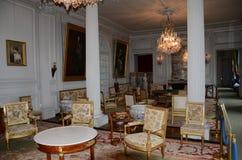 In stijl gehouden ruimten in het kasteel Valencay stock foto