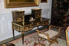 In stijl gehouden ruimten in het kasteel Valencay royalty-vrije stock afbeelding