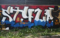 Stijl - graffiti Stock Foto