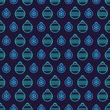 Stijl van het het patroonneon van de Kerstmisbal de naadloze op zwarte achtergrond voor productbevordering Royalty-vrije Stock Foto's