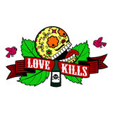 Stiker love kills Stock Image