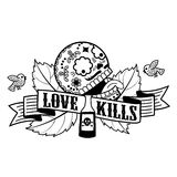 Stiker love kills Stock Photos