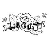 Stiker love kills Stock Photography