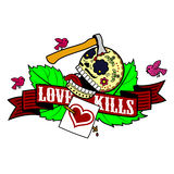 Stiker love kills Royalty Free Stock Photo