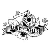 Stiker love kills Stock Photo