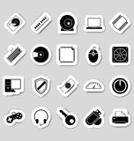 Stikers значков компьютера Стоковые Изображения RF
