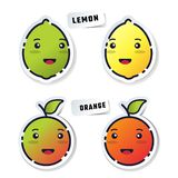 Stikers de fruit illustration libre de droits